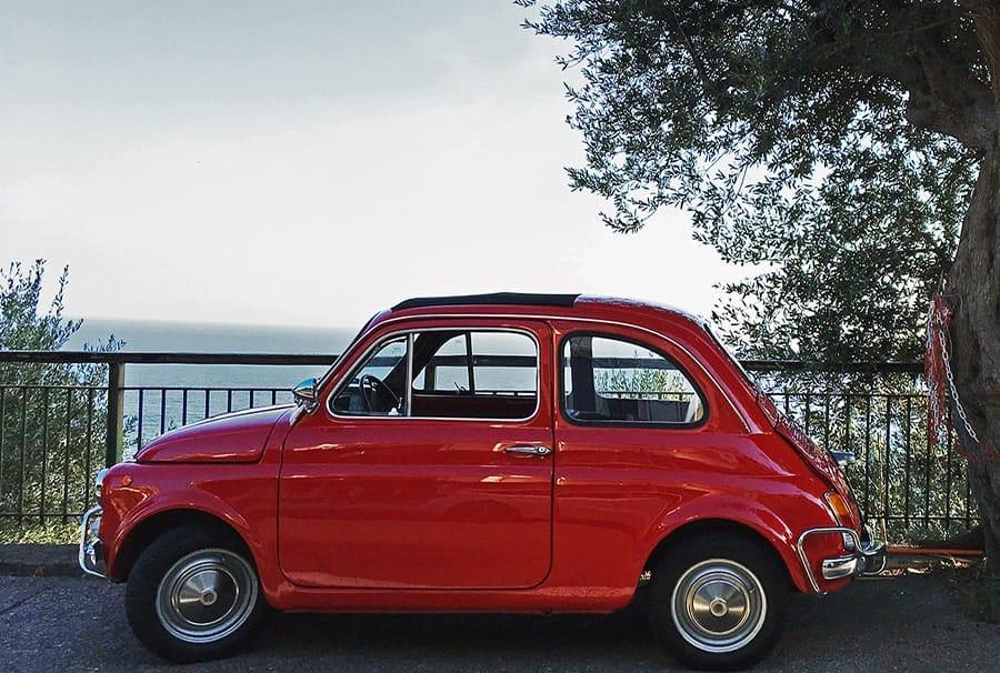 Red Fiat 500